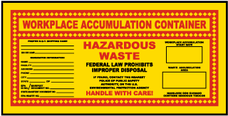 Workplace Accumulation Container Label