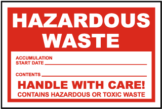 Hazardous Waste Accumulation Start Date Label