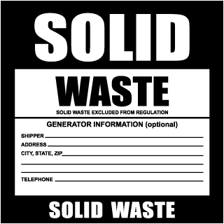 Solid Waste Label