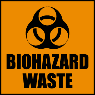 Biohazard Waste Label