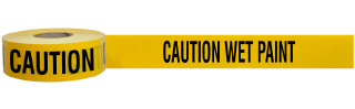 Caution Wet Paint Barricade Tape