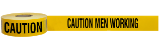 Caution Men Working Barricade Tape