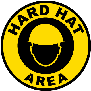 Hard Hat Area Floor Marker