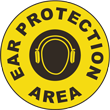 Ear Protection Area Floor Sign
