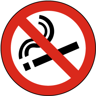 No Smoking Floor Marker
