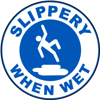 Slippery When Wet Floor Marker