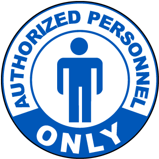 Authorized Personnel Only Floor Marker