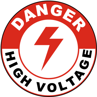 Danger High Voltage Floor Marker