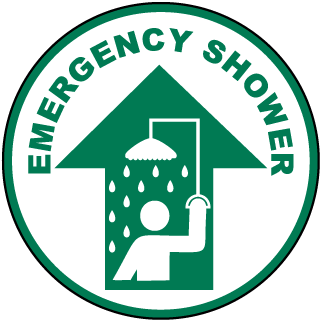 Emergency Shower Floor Marker