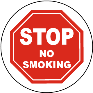 Stop No Smoking Floor Marker