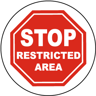 Stop Restricted Area Floor Marker