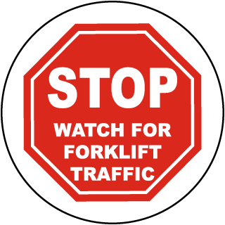 Stop Watch For Forklift Traffic Floor Marker