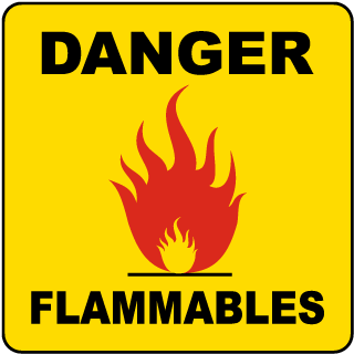 Danger Flammables Traffic Cone Accessory