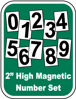 Magnetic Number Sets for Safety Scoreboard Signs