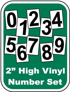 Vinyl Number Sets for Safety Scoreboard Signs