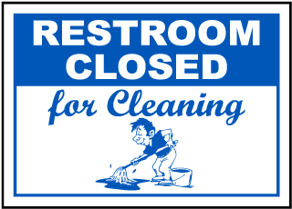 Restroom Closed For Cleaning Magnetic Sign