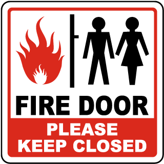 Fire Door Please Keep Closed Sign