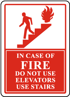 In Case Of Fire Do Not Use Elevators Use Stairs Sign