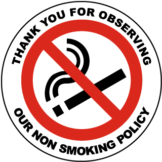 Thank You For Observing Our Non Smoking Policy Label