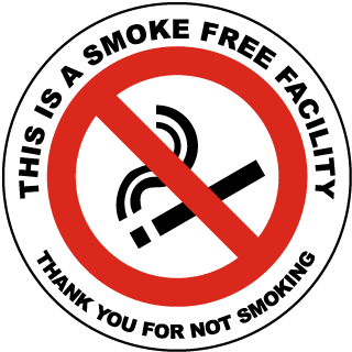 This Is A Smoke Free Facility Thank You For Not Smoking Label