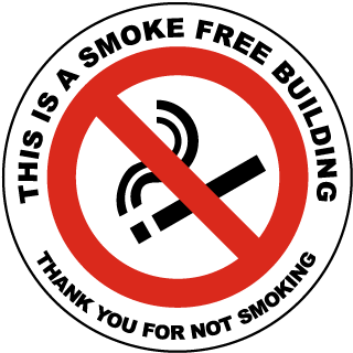 This Is A Smoke Free Building Thank You For Not Smoking Label