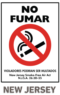 New Jersey No Fumar Violadores Podrian Ser Multados New Jersey Smoke-Free Air Act NJSA 263D-55