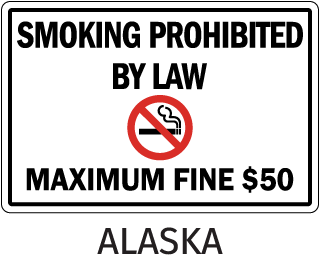 Alaska Smoking Prohibited By Law Maximum Fine $50