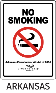 Arkansas No Smoking Sign