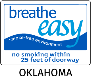 Oklahoma Breathe Easy Smoke-Free Environment No Smoking Within 25 Feet Of Doorway