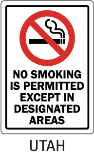 Utah No Smoking Is Permitted Except In Designated Areas