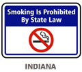 Indiana No Smoking Smoking is Prohibited by Law
