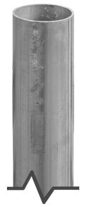 "2-3/8"" Galvanized Round Post"