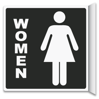 2-Way Women's Restroom Sign