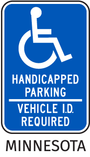 Minnesota Handicap Parking Sign