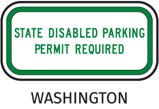 Handicapped Parking Sign-State Disabled Parking Permit Required