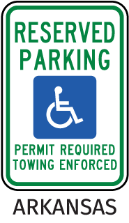 Reserved Parking Permit Required Towing Enforced Sign