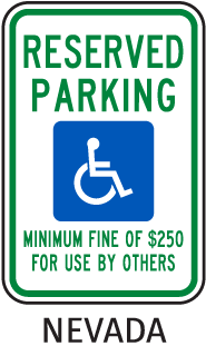Reserved Parking Minimum Fine Of $250 For Use By Others Sign
