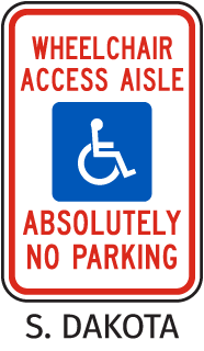 Wheelchair Access Aisle Absolutely No Parking Sign