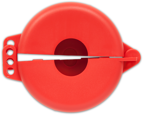 Red Valve Lockout available in 5 sizes.