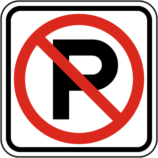 P No Parking Symbol Sign