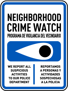 Bilingual We Report All Suspicious Activities Sign