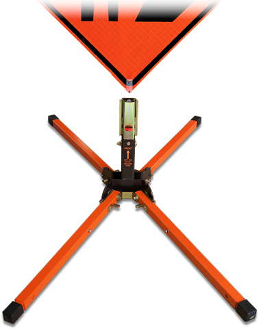 TrafFix Roll-Up Road Construction Sign Stand