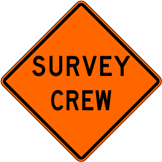 Survey Crew Sign