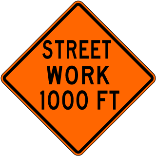 Street Work Ahead Sign X4599-AHD - by SafetySign.com