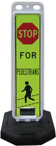 8'' x 36'' Pedestrian Crossing Panel with 28lb Rubber Base
