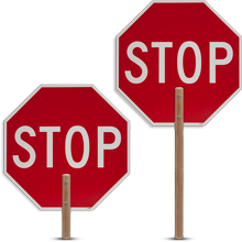 2 sided Traffic Paddle Stop/Stop