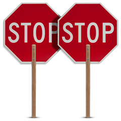2 sided Traffic Stop/Stop