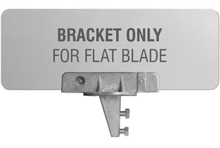 90 Degree U-Channel Post Flat Blade Bracket