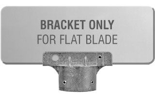 "2-3/8"" Round Post Flat Blade Street Name Sign Bracket"