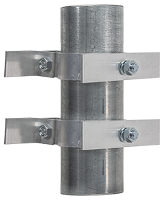 Round Post Aluminum Brackets Set of 2